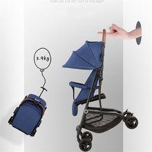Newborn Baby Stroller Travel Portable Simple Wagon Lightweight Folding Four Wheels Stroller Children's Troller on Airplane Pram