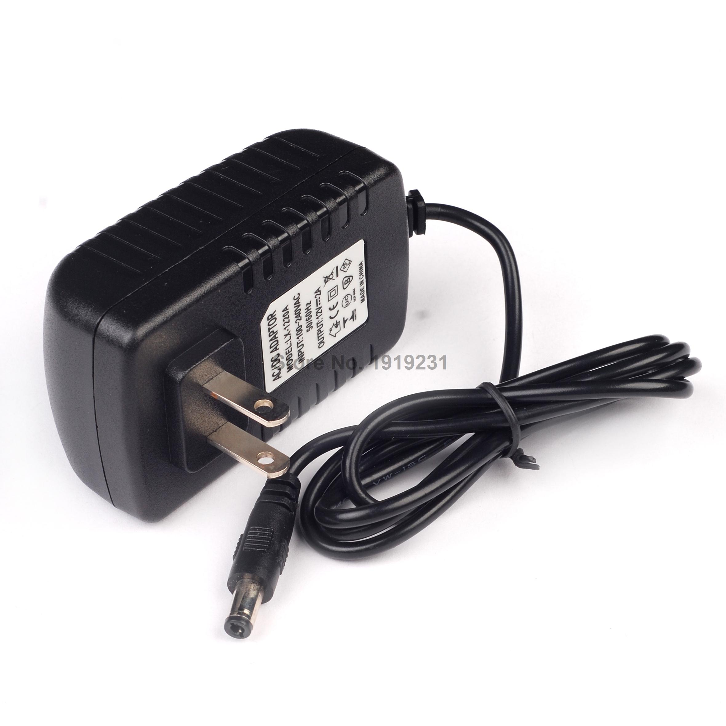 1PCS/AC 100V-240V Converter Adapter DC <font><b>12V</b></font> 2A Power Supply US Plug DC 5.5mm x 2.1mm <font><b>1000mA</b></font> for Arduino UNO MEGA image
