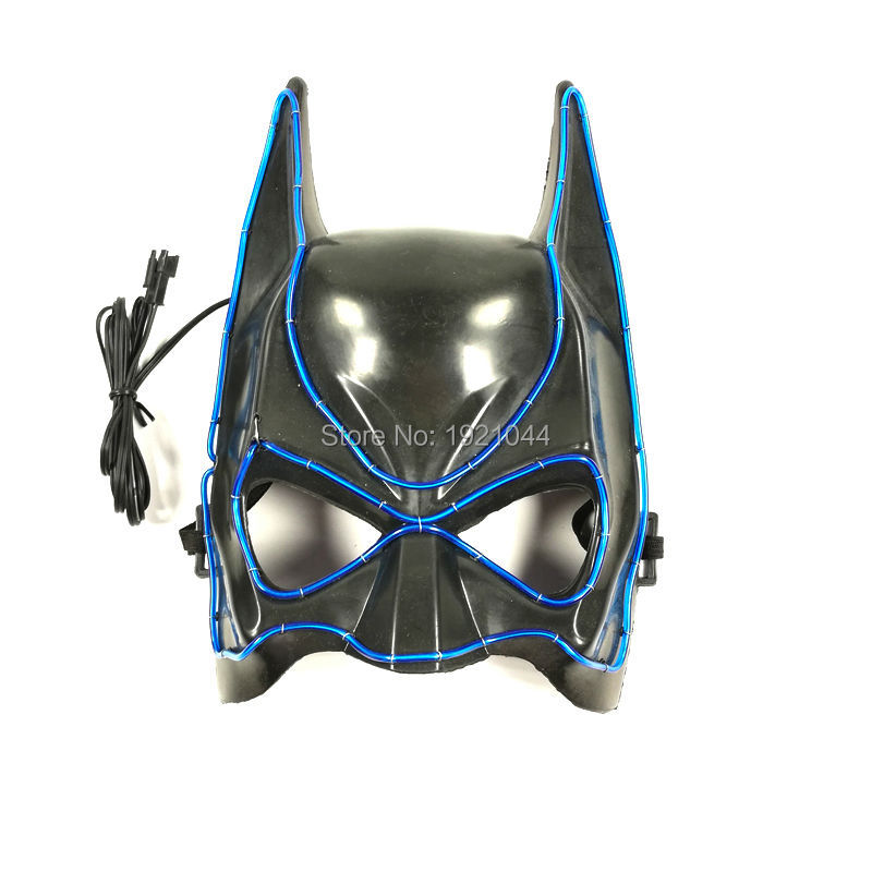 Zgjedhja e 10 ngjyrave Moda e ndezjes Batman Maskë Elektronike - Furnizimet e partisë