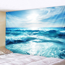 Blue Sea Water Tapestry Indian Mandala Wall Hanging Tapestries Boho Bedroom Rug Couch Blanket 6 Size