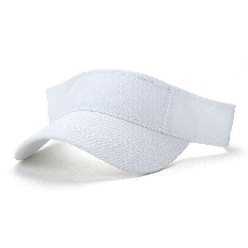 Men Women Adjustable Leather Strap Back Fine Baseball Golf Hats Unisex Cap Visor Black White Pink Blue