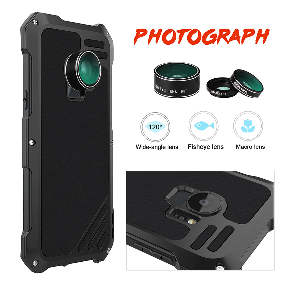 Ascromy For Galaxy S9 Lens Kit Case Fisheye Macro Wide Angle Shockproof Aluminum Cover For Samsung S8 Plus S7 edge Accessories (5)