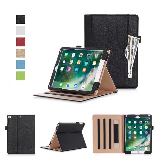 New Business PU Leather Stand Cases For iPad 9.7 2017 For iPad air 1 air 2 Auto Wake-up Smart Luxury Tablet Cover For iPad 5 6 sgl luxury ultra smart stand cover for ipad air 1 ipad5 case luxury pu leather cover with sleep wake up function for ipad air1