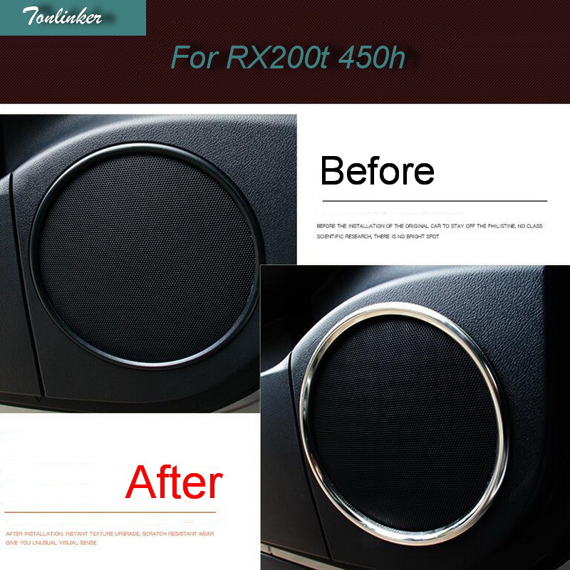Tonlinker Cover case Stickers For LEXUS 2016 rx200t RX450h car styling 6 pcs stainless s ...