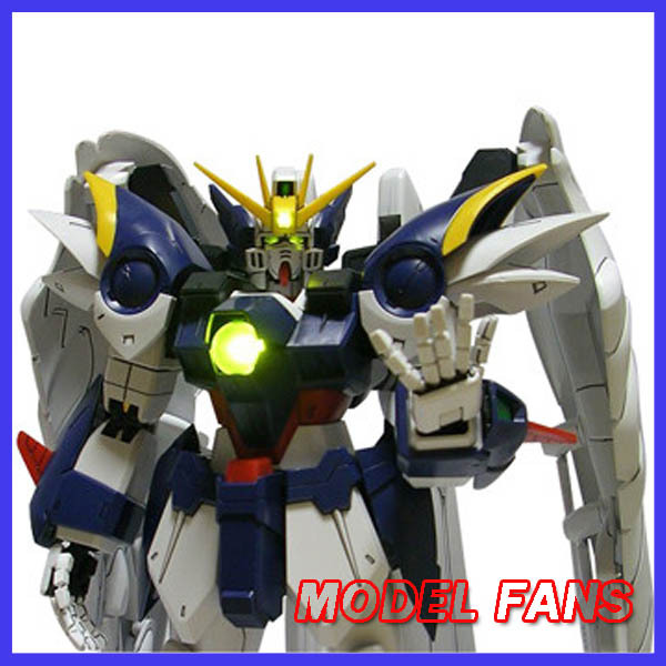 MODEL FANS Gundam Model PG 1/60 Wing Gundam Zero Custom Heero Yuy with Gift lights model fans m3 model pg 1 60 red heresy gundam special large sword backpack gift water paste free shipping