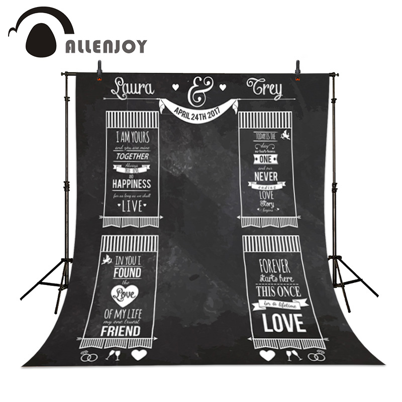 buy allenjoy custom blackboard wedding background idea chalk engagement party. Black Bedroom Furniture Sets. Home Design Ideas