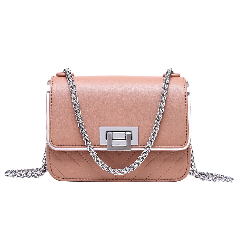 2017 New Small Square Package Chain Bag Of European And American Fashion 3 Pure Color Women's Bags Single Shoulder Bag