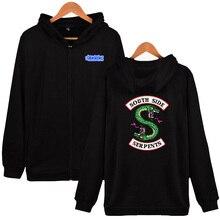 Riverdale Men Hoodies Sweatshirts With Zipper Winter Autumn Jackets Spring South Side Serpents