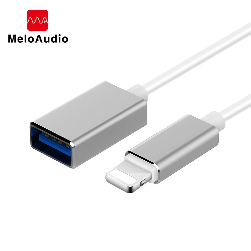 MeloAudio For Lightning OTG Adapter Cable, To USB, Male To Female,for IPhone/iPad/iPod MIDI Electric Piano Keyboard AMP DAC