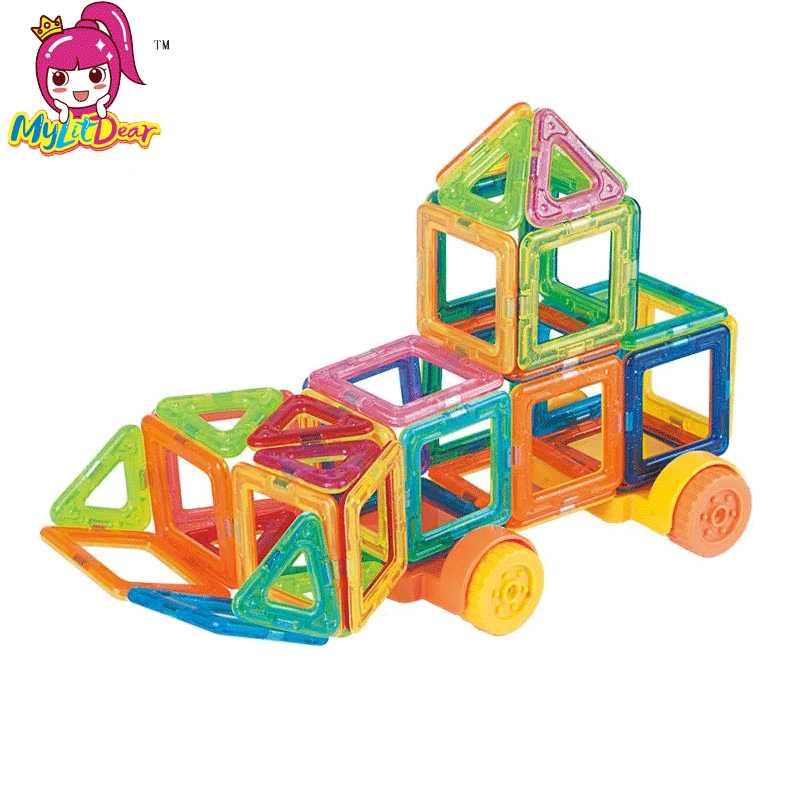 1 pcs pedaço tamanho Mini Magnetic Designer DIY construção tijolos peças único acessório Magnet modelo de construção de brinquedos Educativos