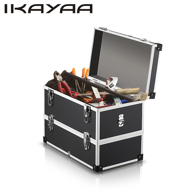 iKayaa Portable Storage Box 2 Layer Multi Purpose Tool Box Hard