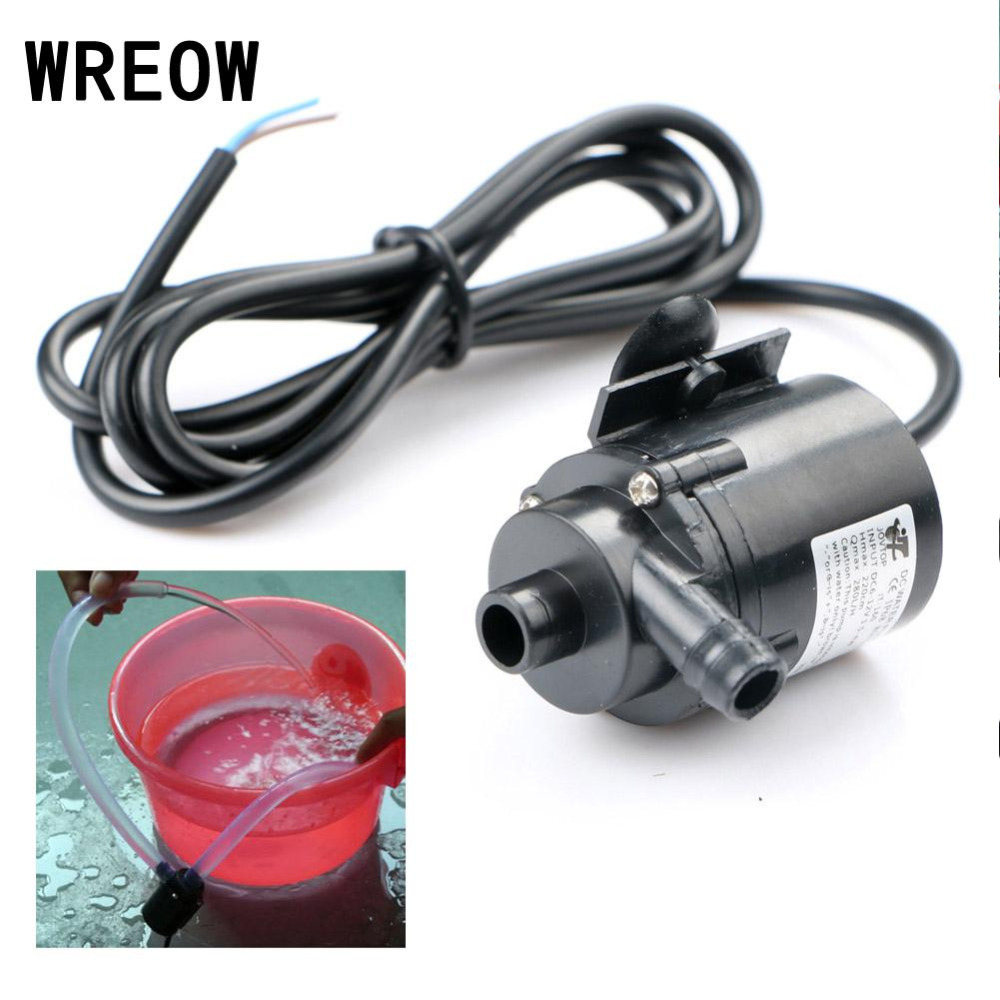 DC12V 280L/H Micro Brushless Submersible Water Pump For Aquarium Fountain High Pressure Car Washing Spray Electric Water Pump