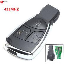 Keyecu-mando a distancia de coche inteligente, repuesto nuevo, 3 botones, 315/433MHz, Chip NEC para mercedes-benz 2000 2001 2002 2003 2012-2013