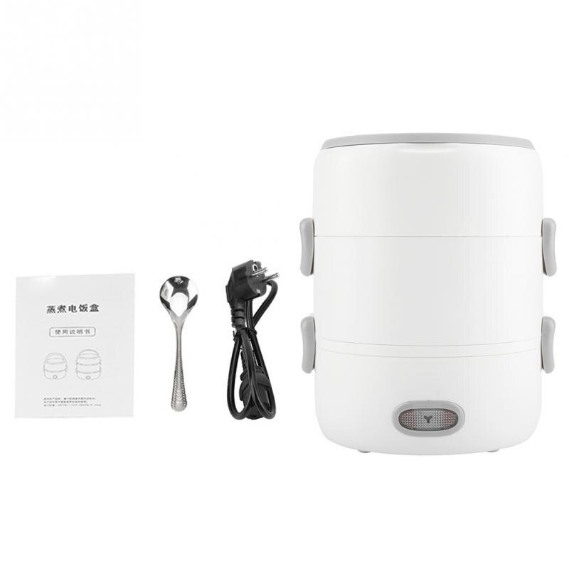 Draagbare 3 Layer Elektrische Verwarming Lunchbox Voedsel Warmer Fornuis Met Keramische Liner Container Warmer Lunchbox EU Plug 220 v-in Lunchdoosjes van Huis & Tuin op  Groep 1