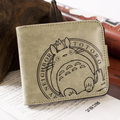 PU short wallet One Piece Road dragon cat Gintama anime khaki many styles of men and women wallet