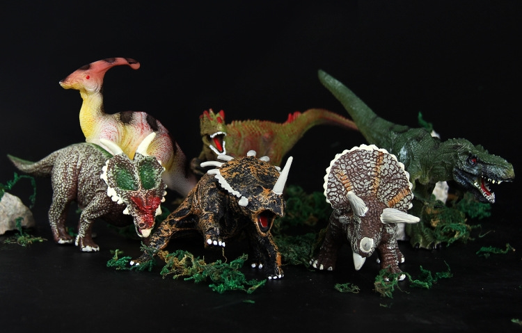 6PCS set Plastic font b Animal b font Figure Sickle dragon Triceratops Oklahoma Tyrannosaurus rex Kids