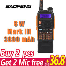 3800mAh Battery Baofeng GT-3TP MarkIII 8W Dual Band VHF UHF Ham Two-way Radio Walkie Talkie Transceiver(China)