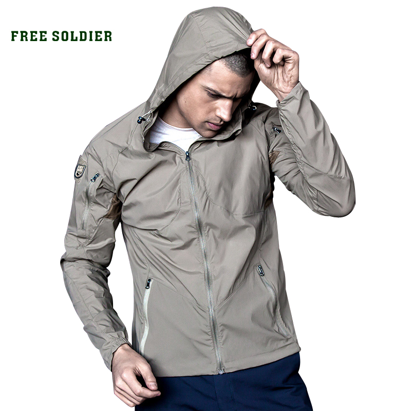 FREE SOLDIER outdoor elastic men s breathable sun block clothes summer UV proof coat tactical skin
