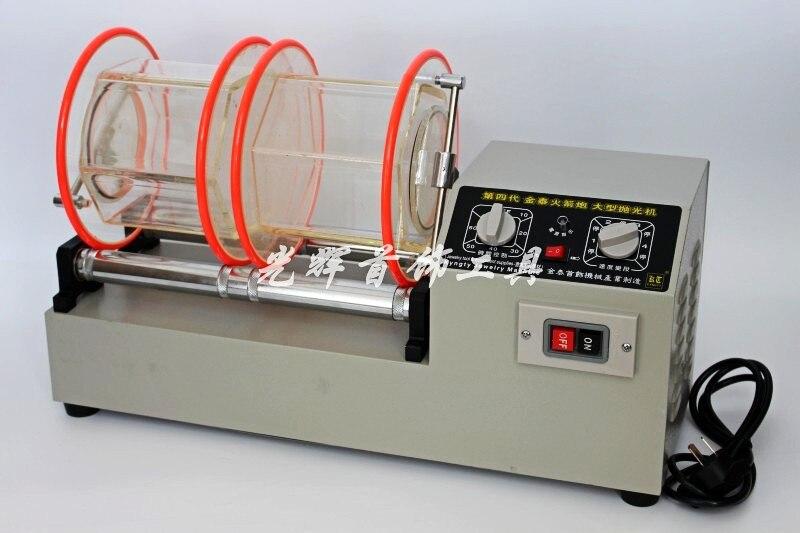 Livraison gratuite orfèvrerie machines-outils 11 kg capacité gobelet rotatif 2 barils or Machine à polir