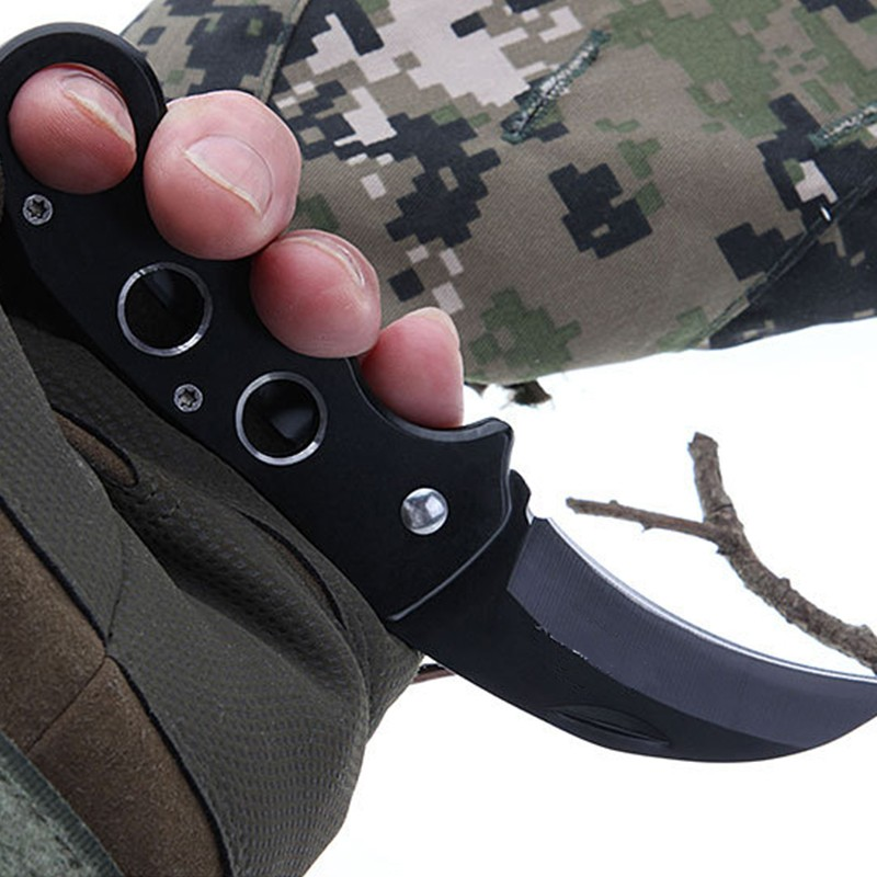 Mini Portable Knife Fold Camping Tactical Folding Ring Outdoor Tools Hunting  Stainless Key Survival Knife