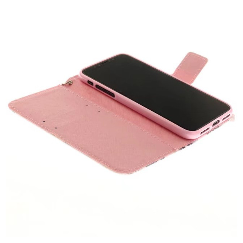 Seonstai Pet Painted Wallet Leather Case For iPhone X 8 7 Plus 6s 6sPlus Flip Stent Card Slot Coque For Samsung Note 8 S8 Fundas