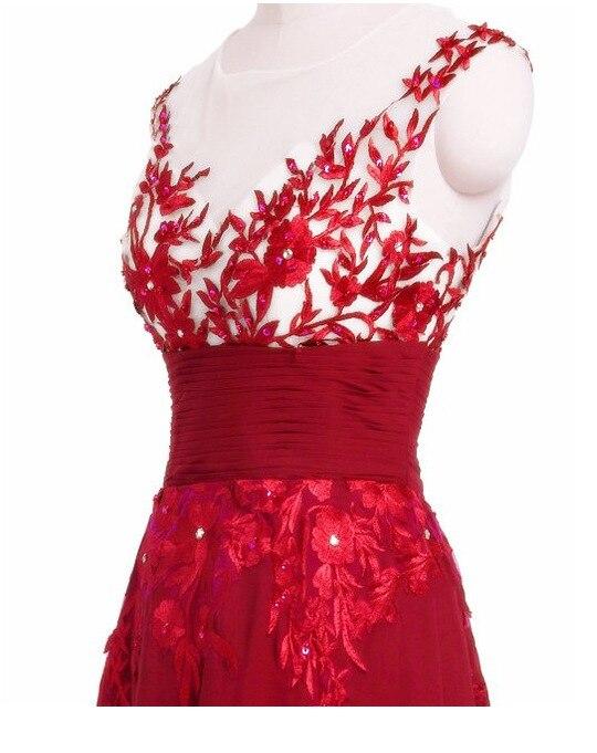 Grande taille 6XL élégant bleu rouge perle dentelle mousseline De soie robes longues pour fête d'été robe formelle 2019 Maxi robes robes De Festa - 5