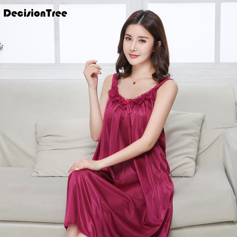 2019 summer silk lace women sleepwear ladies sexy lingerie sleepdress babydoll nightdress   nightgown     sleepshirts   homewear