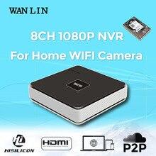WAN LIN 8 Channel Onvif NVR WIFI Camera NVR Network Video Recorder HD720P 960P1080P NVR 4CH