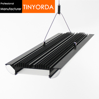 Tinyorda TH1650 2Pcs (1 מ 'אורך) 3 צד תאורת Led תליון אור פרופיל משרד תליית פרופיל [מקצועי יצרן]