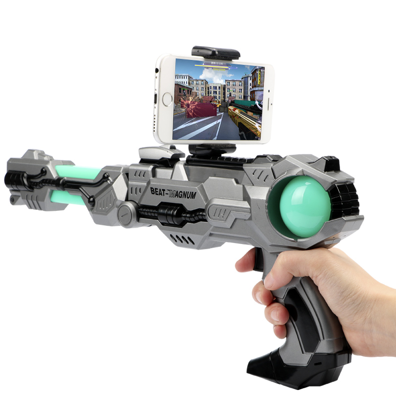 New ourdoor AR 4D somatosensory pistol guns real mobile games augmented reality smart gift toys AR game guns childrens toys