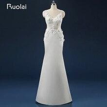 Elegant 2016 Real Picture Scoop Handmade Flowers Appliqued Sequins Wedding Dresses Floor Length Long Bridal Gown Wedding ASAFN64