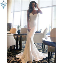 Ameision Elegant Evening Dresses Mermaid Sweetheart Slim Spaghetti Strap 2019 Sexy Formal Party