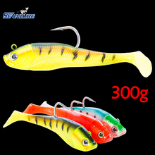 Seanlure Lead Head Soft Fish 20cm 300g 1pcs/Pack specifically offshore angling fishing boat soft fishing lure Deep sea Hook