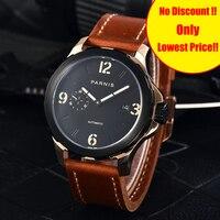 Новый стиль 2017 relojios Мужские механические часы автоматические часы бренд Parnis 44 мм хронограф светящийся сапфир 5Bar мужские часы