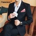 MAUCHLEY Cultivo Coreano Business Casual Conjuntos De Terno de Negócio Dos Homens Slim Fit Tuxedo Ternos de Vestido Formal de Moda Vestido de Terno 2017