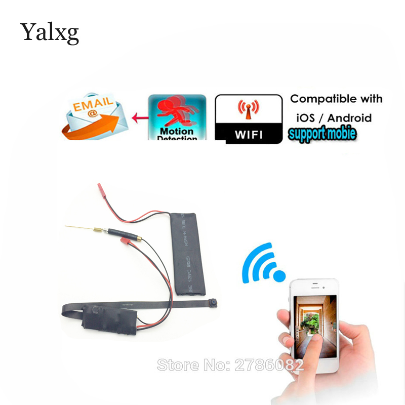 Supper Mini Wi-fi HD 1080P P2P Wireless Snake CCTV Camera DIY Wireless Camera Module Motion Detection Email Photos DVR