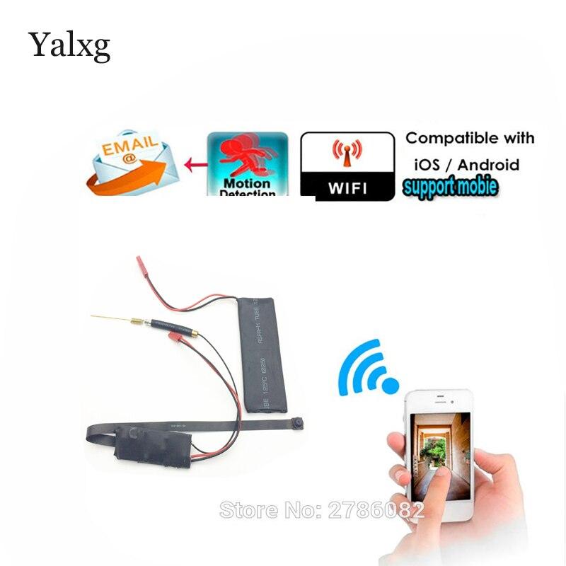 Supper Mini Wi-fi HD 1080P P2P Wireless Snake CCTV Camera DIY Wireless Camera Module Motion Detection Email Photos DVR