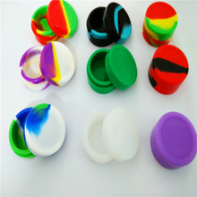Wholesale-22 Ml Big Round Wax Containers Non-stick Silicone Container Jars Dab Box Reusable For Concentrate Wax With Dab Tool