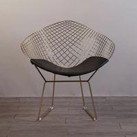 Бесплатная доставка U BEST Bertoia Diamond кресло, Гарри Bertoia Стиль провода открытый кресло обеденный chiar
