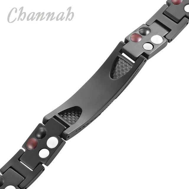 Titanium Bracelet 4-in-1 Magnetic with Carbon Fiber Inlay