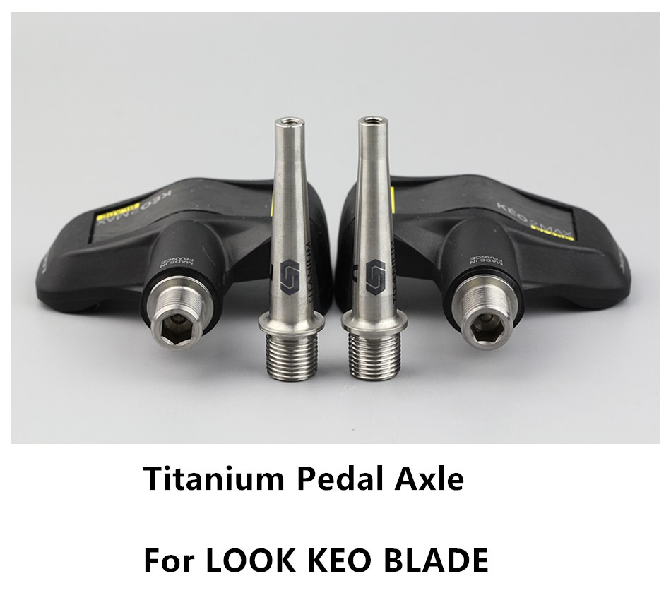 STAN TI Vtt Pédale Essieu Pédale de Vélo En Titane Arbre Pour LOOK KEO Blade Pédale SPD Vélo Accessoire