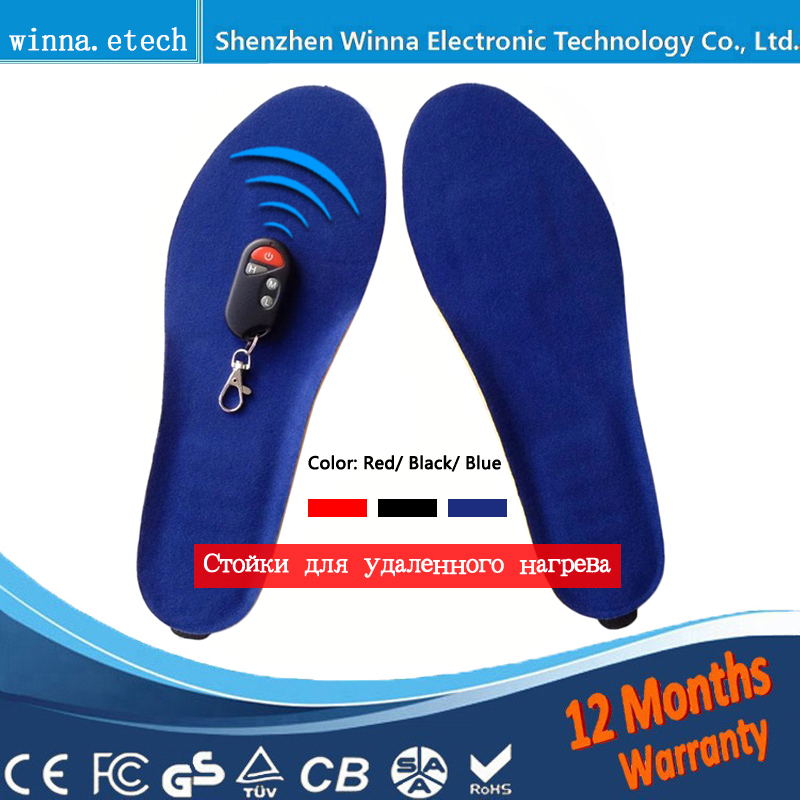 New USB warm Heating Insoles winter Thick warm insoles for women men shoes Quick Warm Foot Battery safety insoles