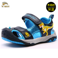 DINOSKULLS Dinosaur Children Shoes Summer Beach Sandals For Boys Kids Dandals Sandalen Jongen KinderSandalen Kids Sandals27 34