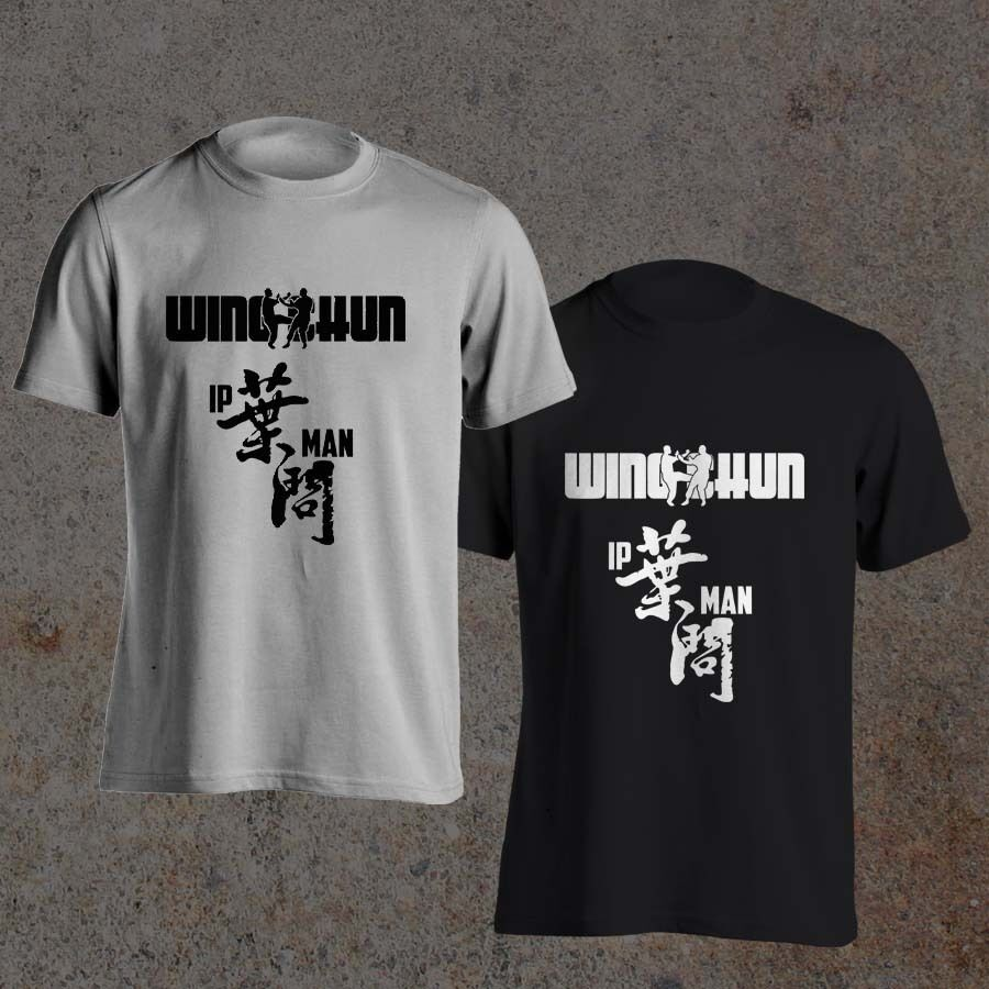 Ip Man Grand Mater Kungfu Wing Chun Movie Donnie Yen Men's Black White T-Shirt New Summer Classical Solid Color Short Hoodies image
