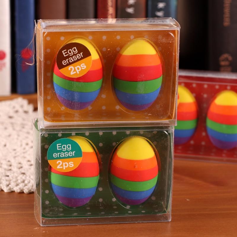 Cute Stationery Multicolour Egg Rubber Rainbow Egg Eraser