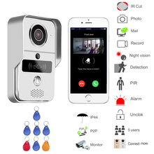 WIFI wireless Video door phone Night version MINI camera Video Intercom support IOS&Andorid APP Control Smart Home Free Shipping