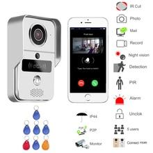 WIFI wireless Video door phone Night version MINI camera Video Intercom support IOS&Andorid APP Control Smart Home Free Shipping