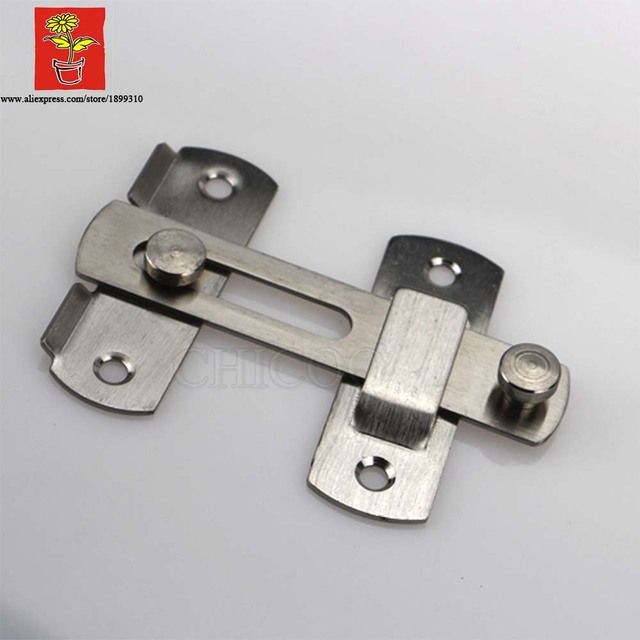 Stainless Steel 4INCH Security Buckle Door Guard Bolt Door Lock Safety  Sliding Door Bolt 100mm Lock