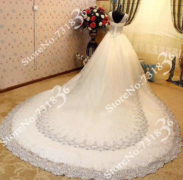 Free Shipping debutantes floor-length sleeveless cathedral train princess weding dresses bridal gowns luxury wedding dress 2014