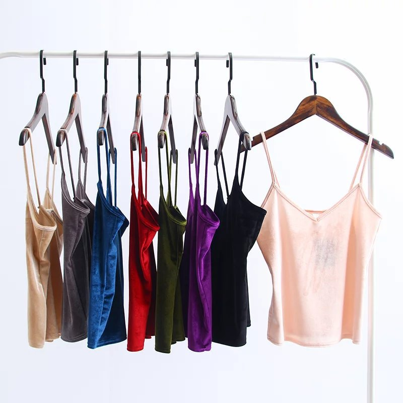 New Slim Thin Sexy Velvet Women Short   Tank     Top   Camisole Summer Fashion Casual Ladies Vest Camis Female Blusa Cropped   Tops